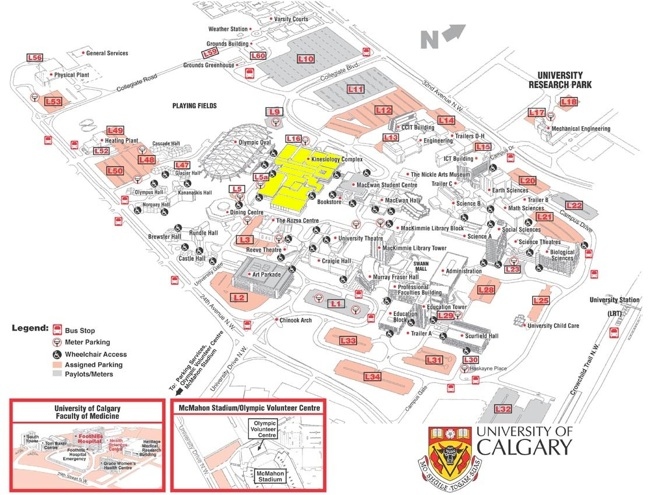 Calgary Kendo Club -Map on u of winnipeg campus map, university of calgary parking map, u of waterloo campus map, u of lethbridge campus map, u of memphis campus map, u of regina campus map, calgary alberta map, park map, u of c campus map,